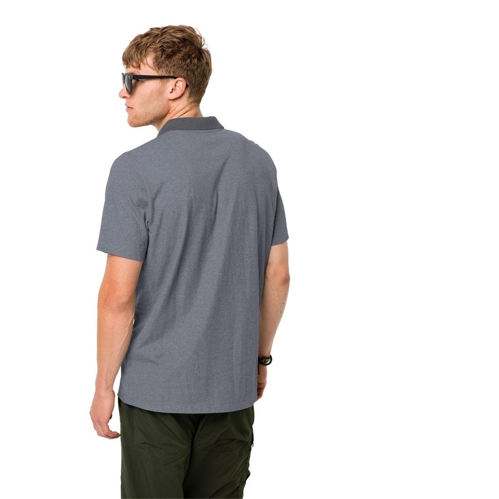 Jack Wolfskin Pique Polo Shirt Men